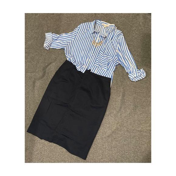 Talbots Dresses & Skirts - Navy blue pencil skirt